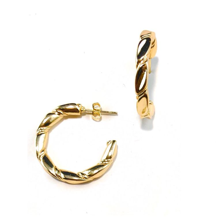 Tay Twisted Hoops