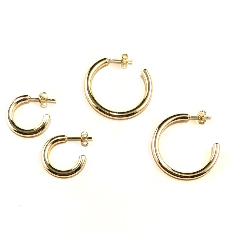 Tessa Tube Hoops-Small & Medium