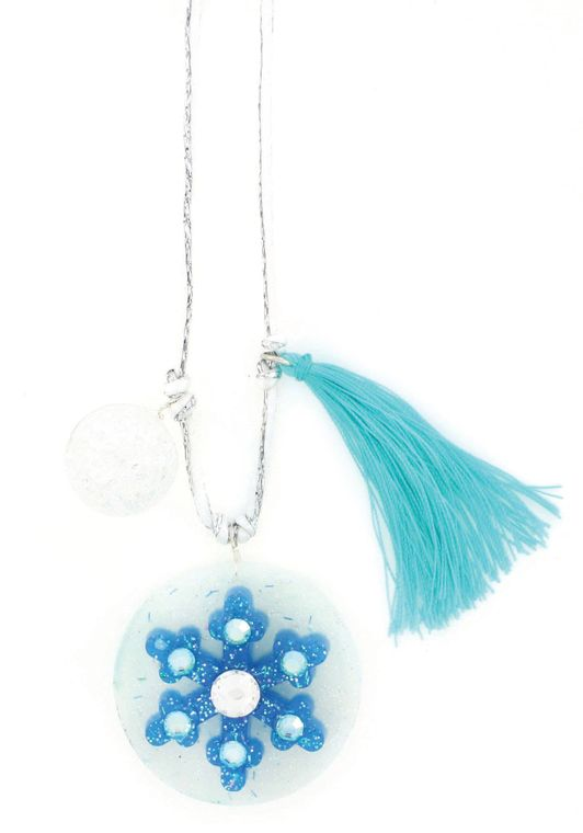 Snowflake Holiday Stocking Stuffer Necklace