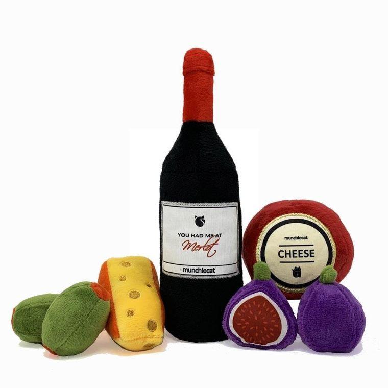 Catnip Wine & Cheese Deluxe - 7pc set