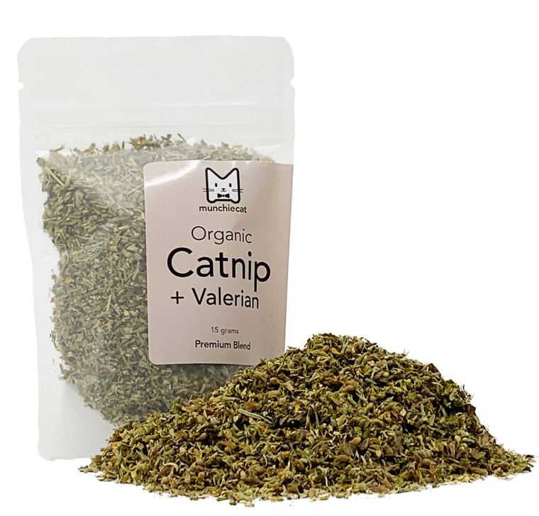 Organic Catnip + Valerian Root Blend USA Grown - Small (15g)