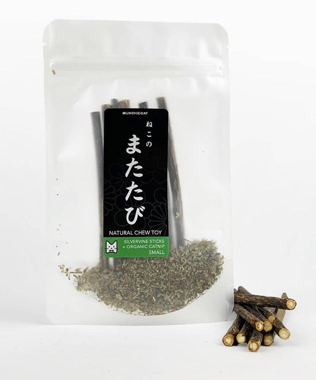 Matatabi Chew Sticks, w/Catnip+Silvervine, Small 8pc
