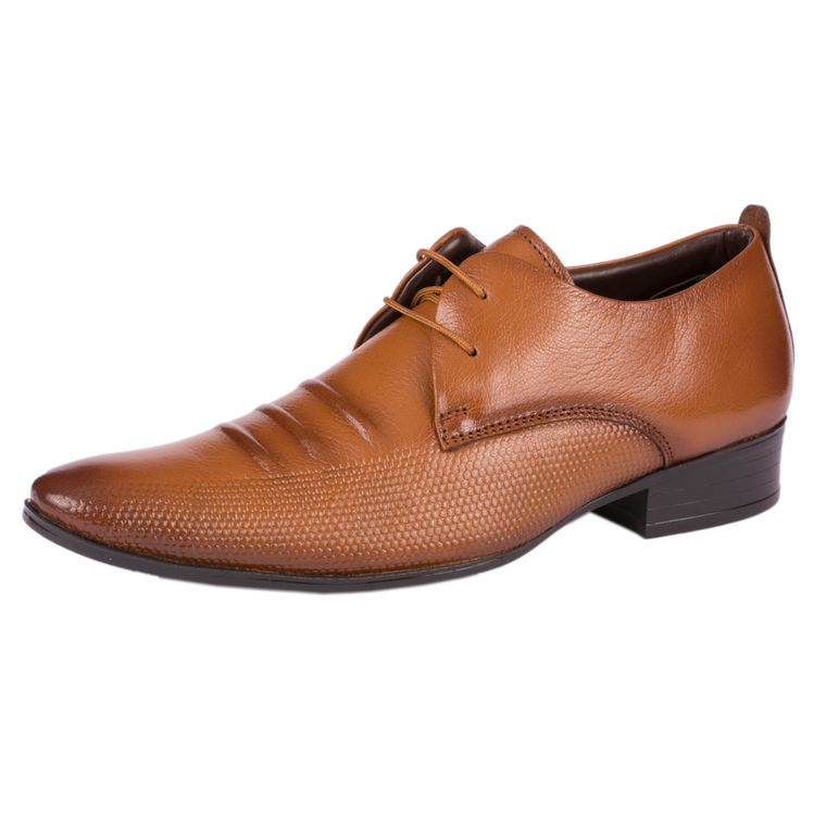 CAGA Men's Close Toe Patterned Oxfords
