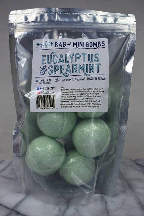 Mini - Eucalyptus and Spearmint Bath Bombs