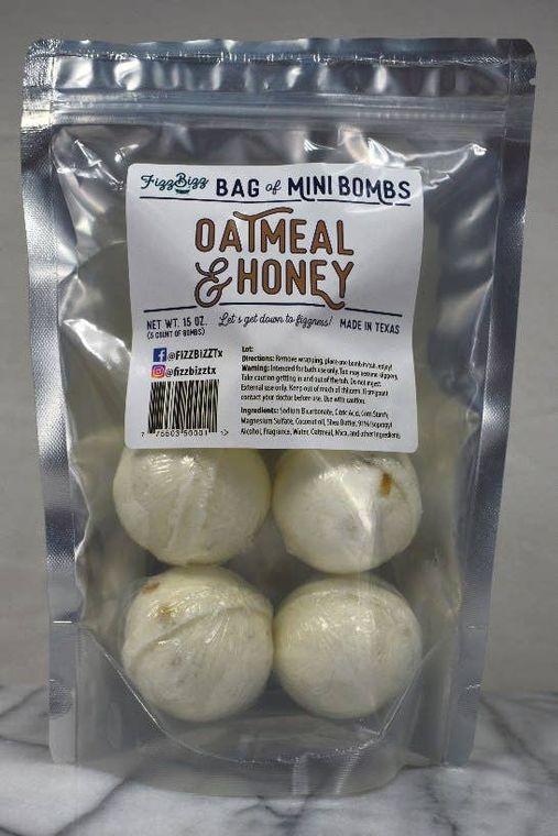 Mini - Oatmeal and Honey Bath Bombs