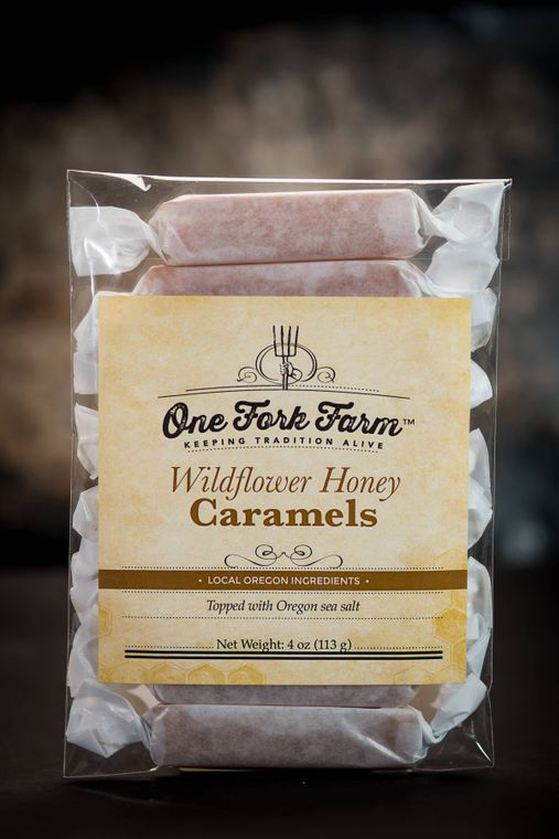 4oz. Wildflower Honey Caramels