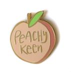 Enamel Pin, Peachy Keen