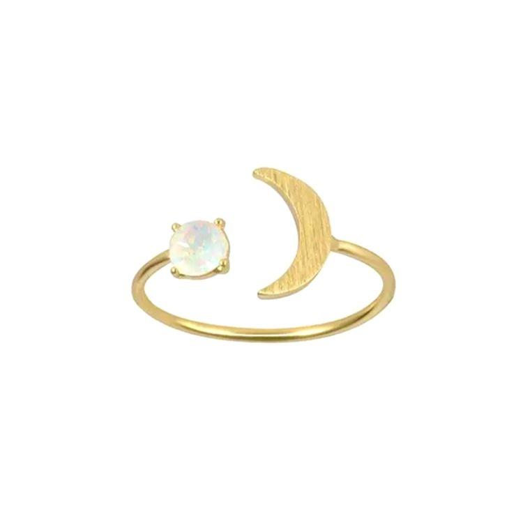 Opal Moon Adjustable Ring
