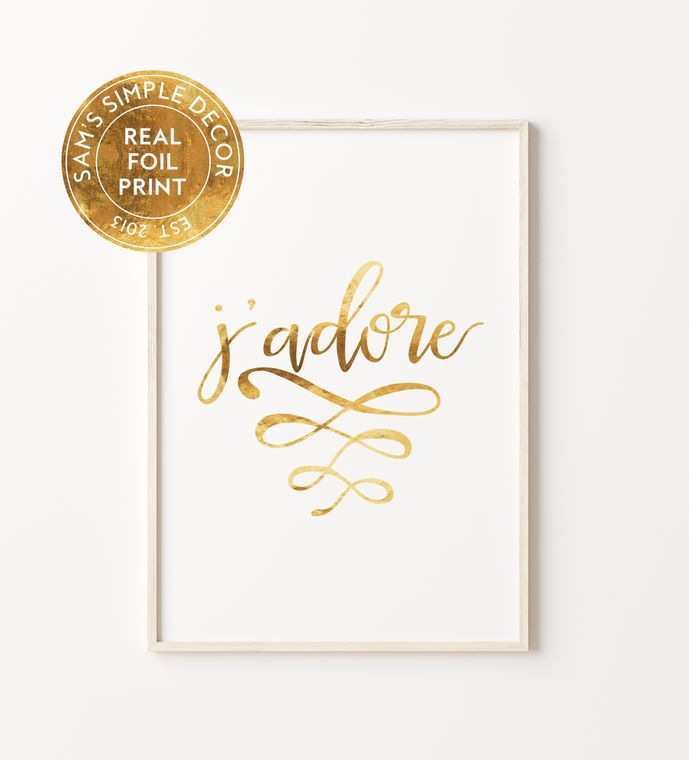 J'dore - Real Gold Foil Print
