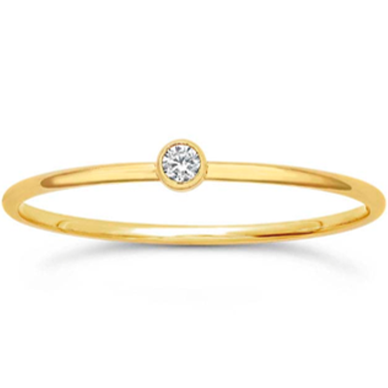 Clear Crystal Stackable Ring