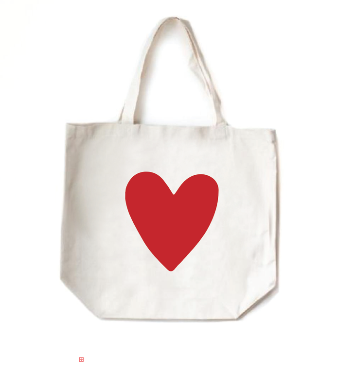 Tote Bag, Red Heart