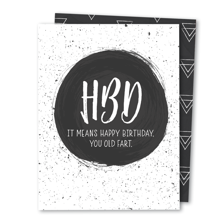 HBD • Noble Greeting Card