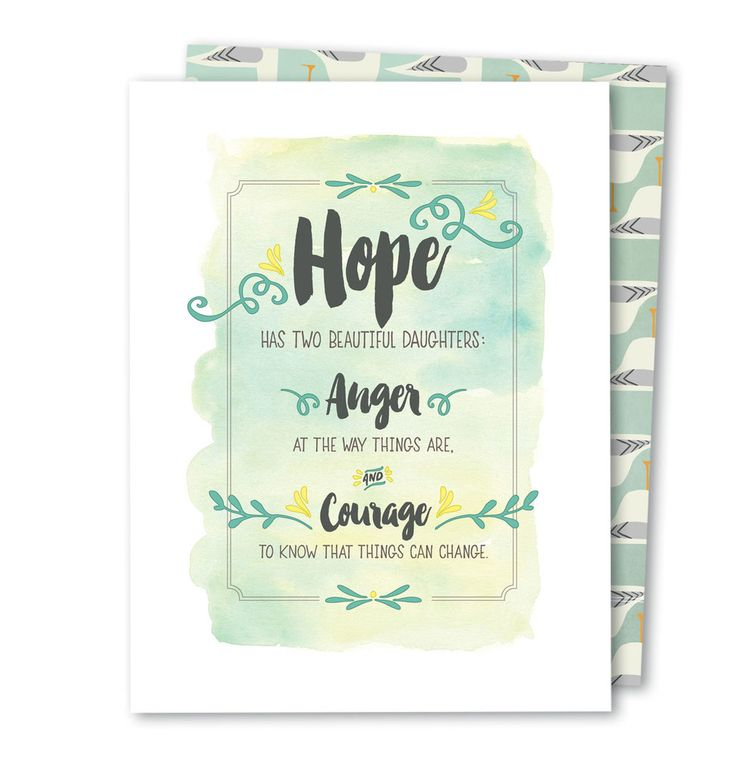 Hope Has Two Daughters • Noble Greeting Card
