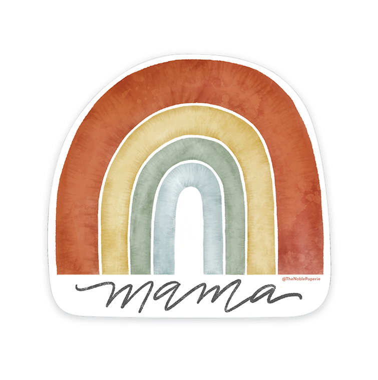 "Rainbow Mama • 3"" Noble Die-Cut Sticker"