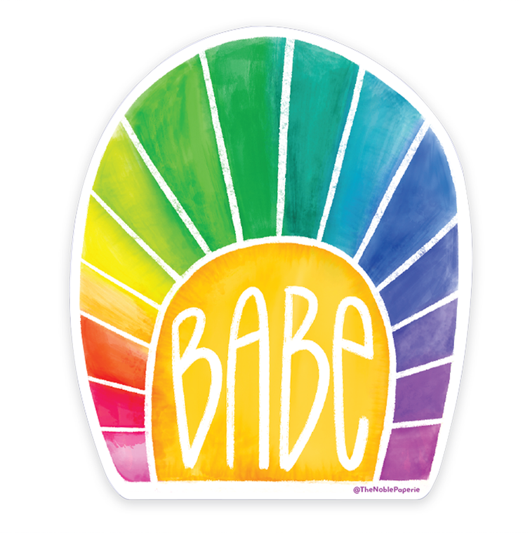 "Rainbow Babe • 3"" Noble Die-Cut Sticker"