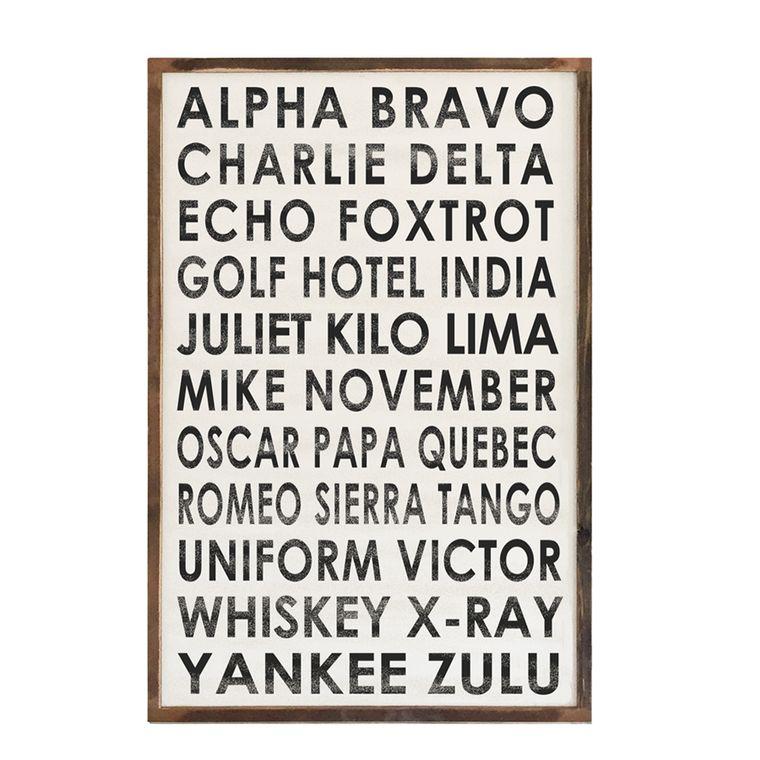 Framed Wood Sign