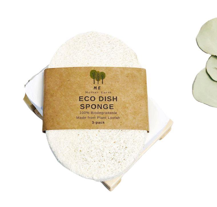 Loofah Dish Sponge: Single Layer 3-Pack