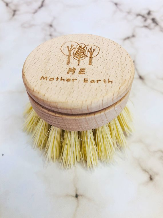 Uncoated Long Handle Sisal Kitchen Brush- Refill Head Only