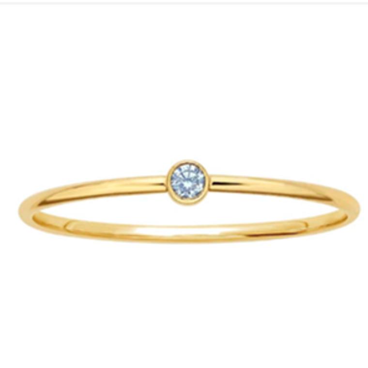 Gold Filled Blue Topaz Ring