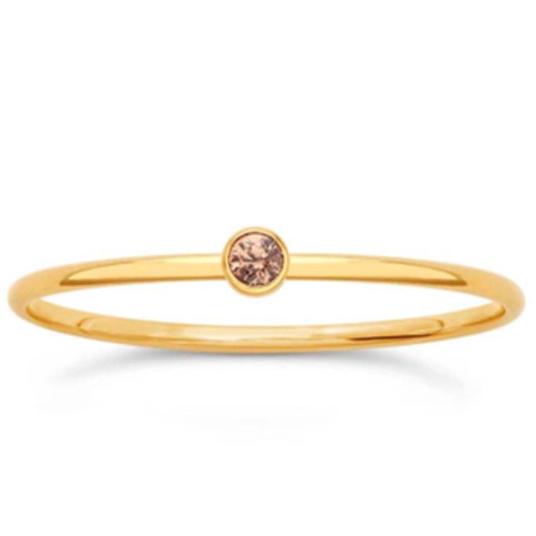 Gold Filled Champagne Gem Ring