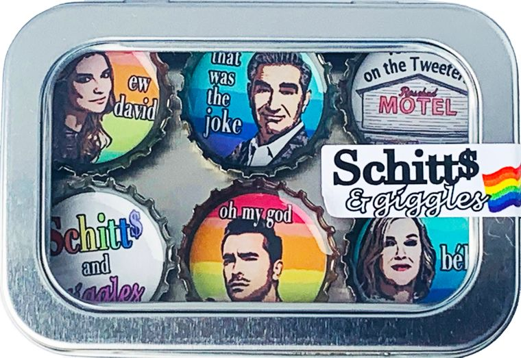 Schitts & Giggles Magnet - Six Pack