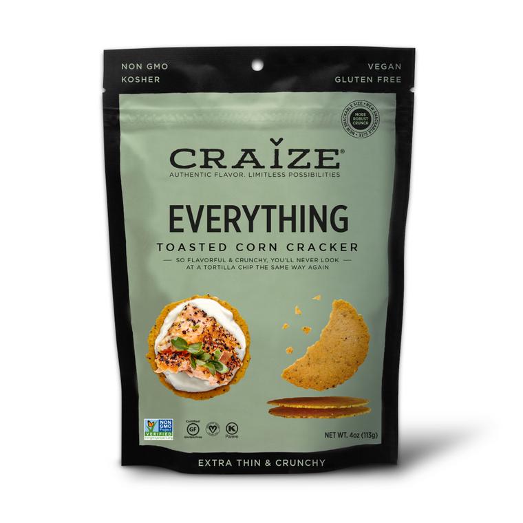 Everything Toasted Corn Crackers 4oz