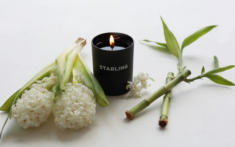 Hyacinth + Bamboo Candle