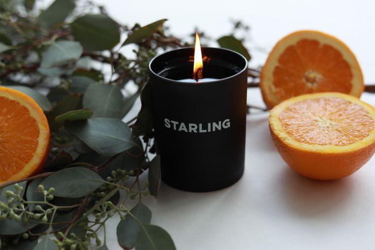 Orange Flower + Amber Candle
