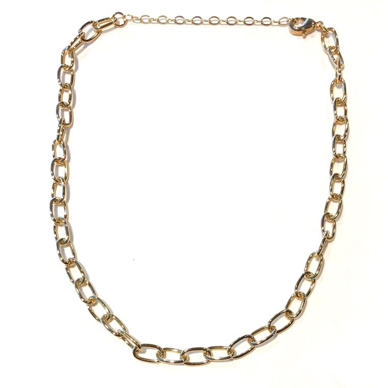 Plain Gold Chain Choker