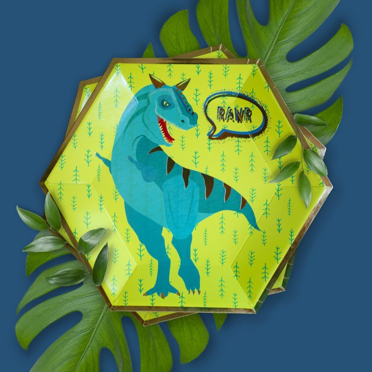 CLEARANCE SALE - Dinosaur Party Plates - Themed Party Supplies