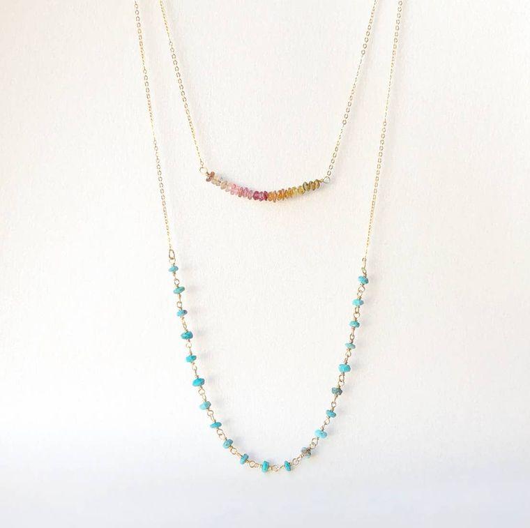 Delicate Multi-Strand Gemstone Necklace