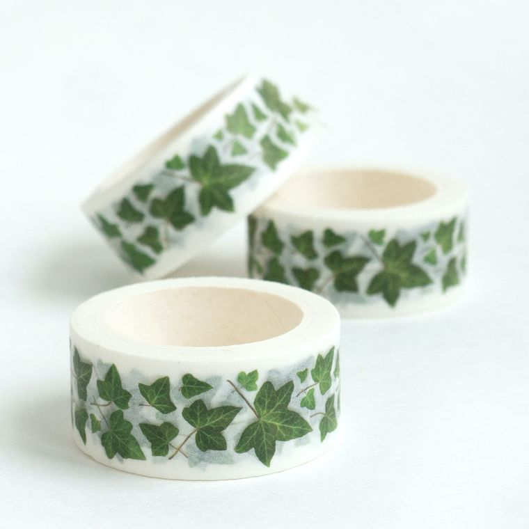 Washi Tape - botanical designs - ivy leaves