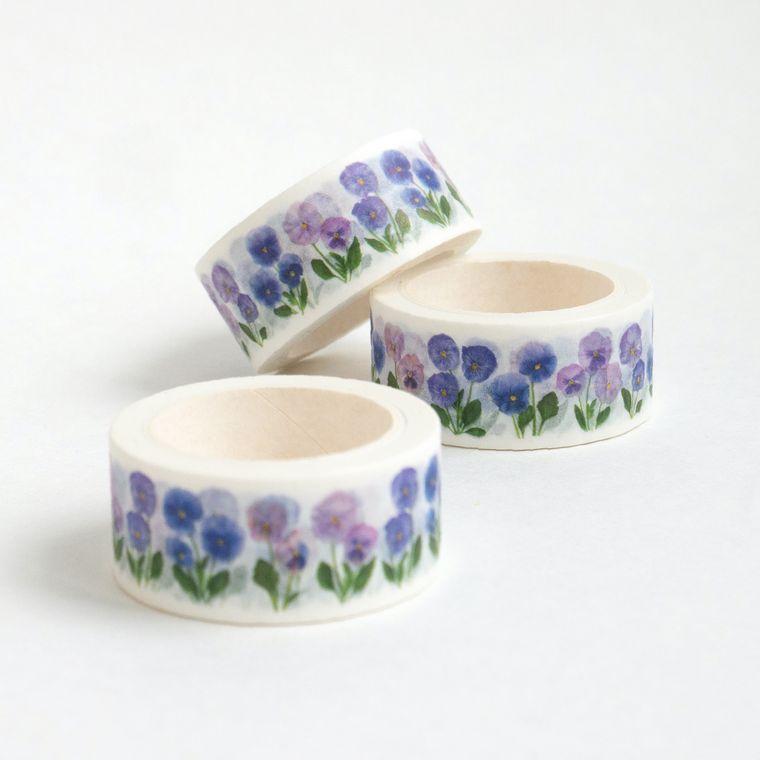 Washi Tape - botanical designs - pansies