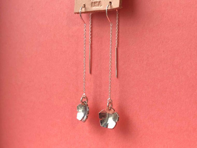 Cherry Blossom Threader Earrings
