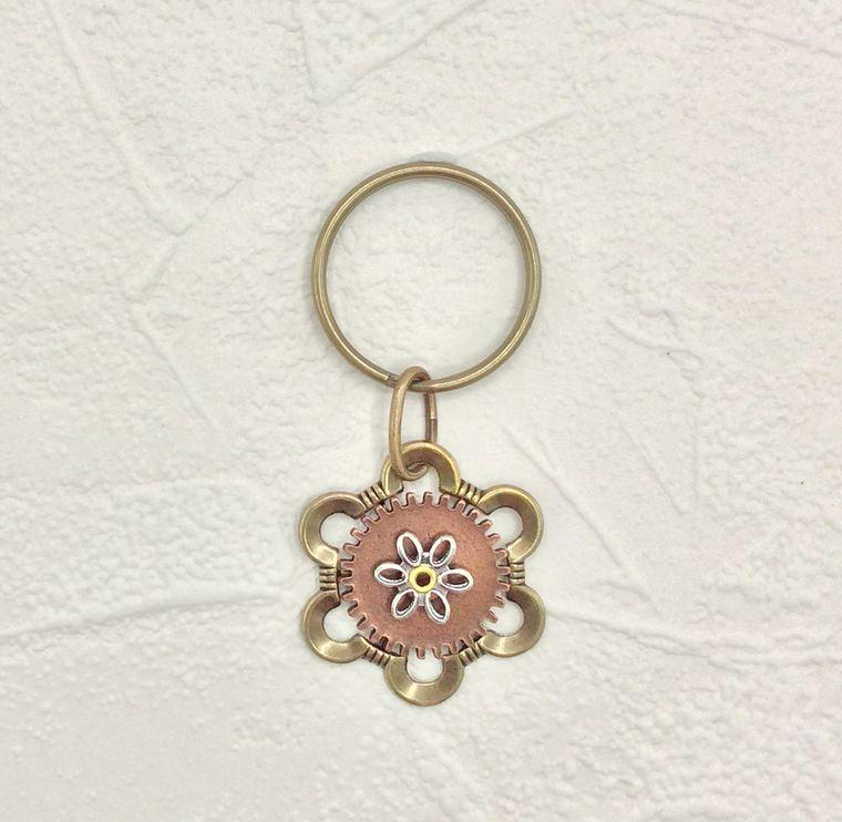 flower key ring - K21