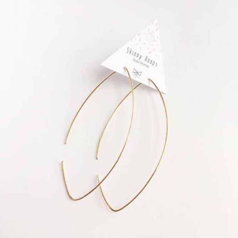 Classic Skinny Hoop Earrings