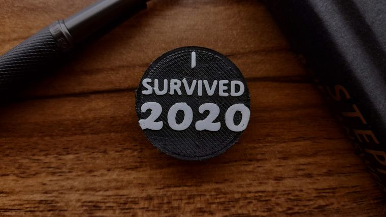 I Survived 2020 - 3D-Printed Pin