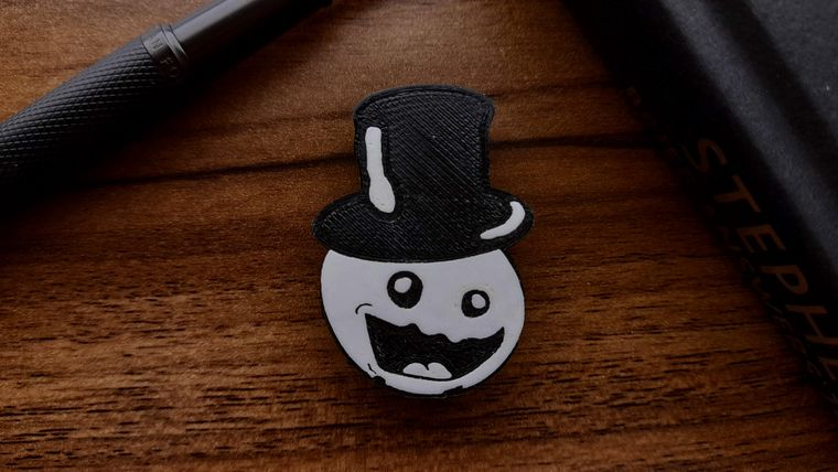 Snowmad - 3d-Printed Pin