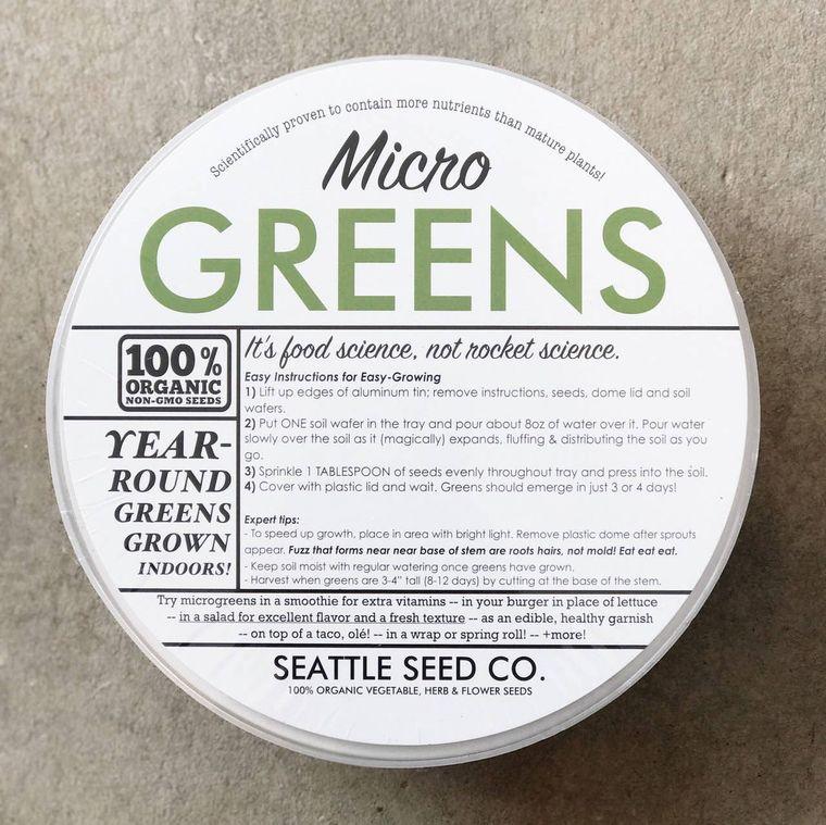 Organic Microgreens Starter Kit