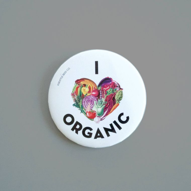 I Heart Organic Button