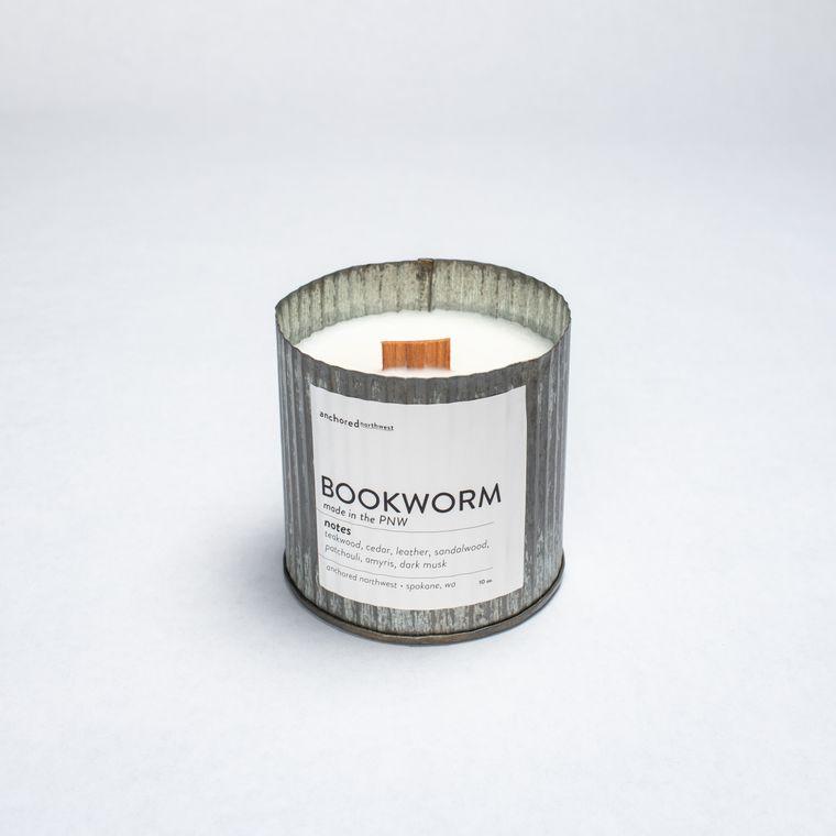 Bookworm - Rustic Vintage Wood Wick Candle