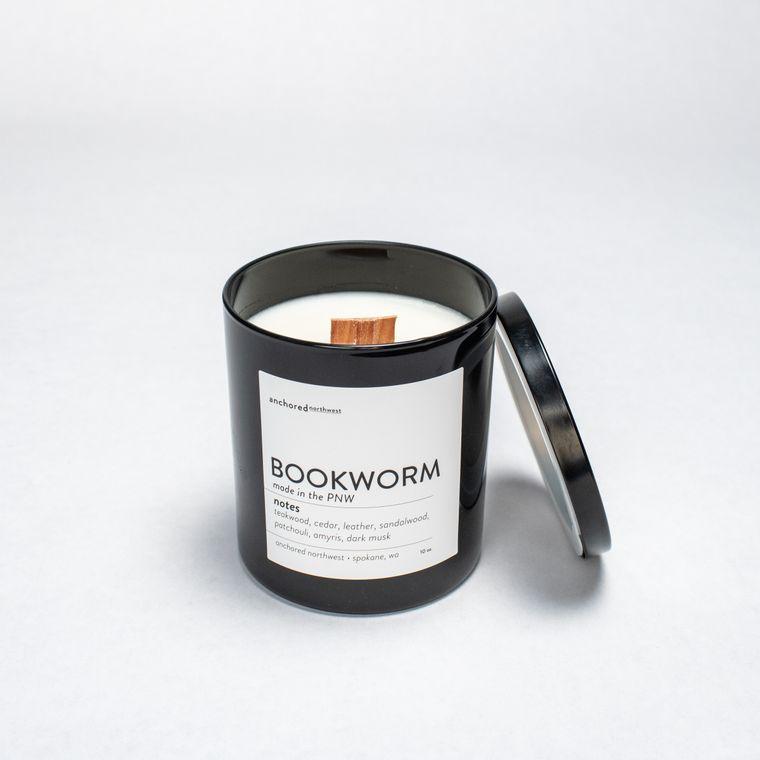 Bookworm - Black Tumbler w/ cover