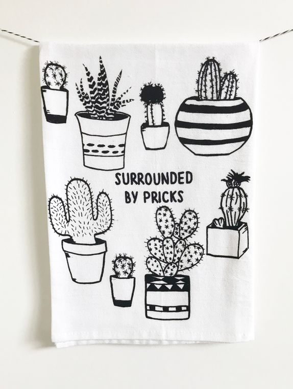 Surrounded by Pricks Kitchen Towel