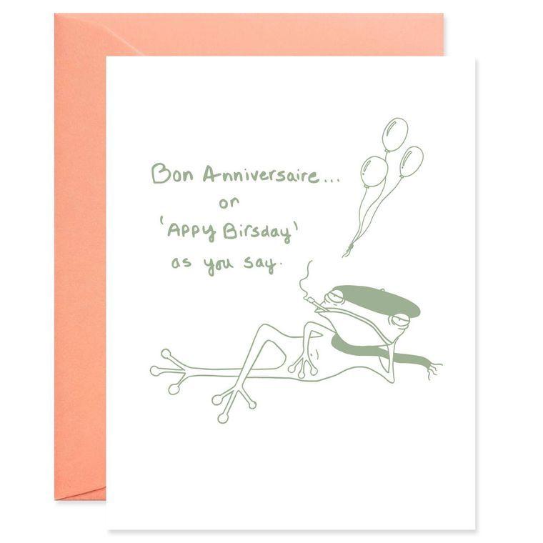 "François le Frog says, ""Appy Birsday"" Card"