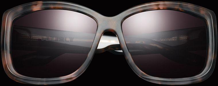 IVI VISION ~ BEVERLY ~ MATTE MAUVE TORTOISE / ROSE GRADIENT LENS