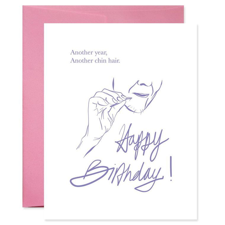 Chin Whiskers Birthday Card