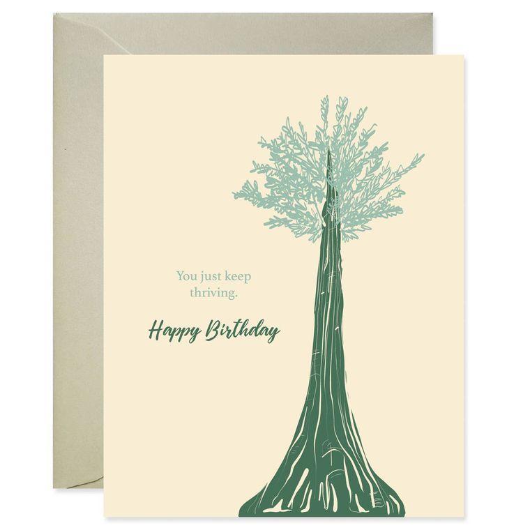 Keep Thriving Birthday Card