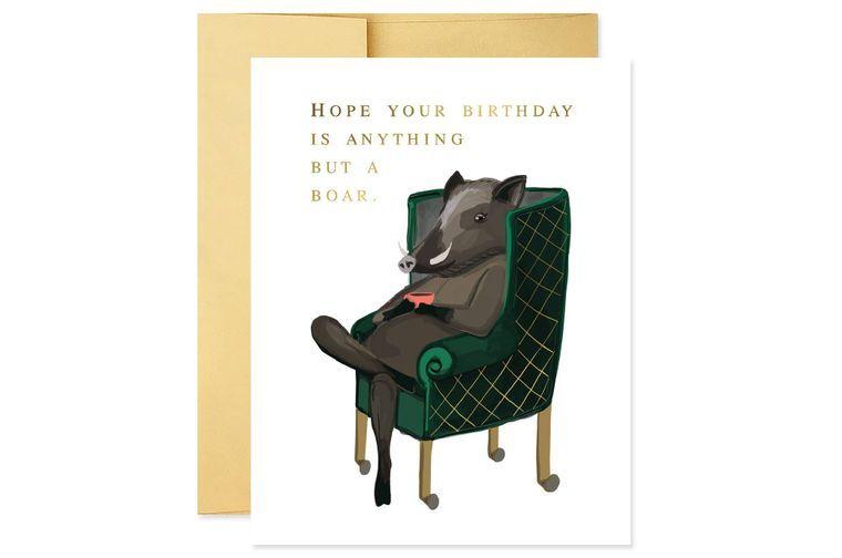 Birthday Boar Card