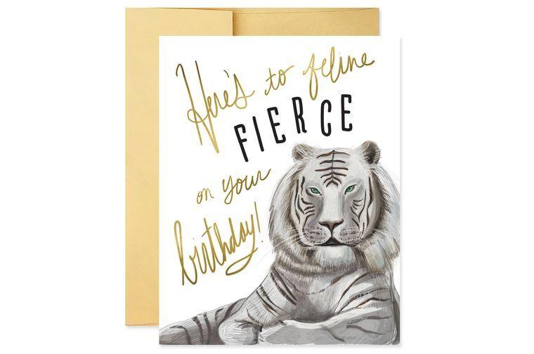 Feline Fierce Birthday Card