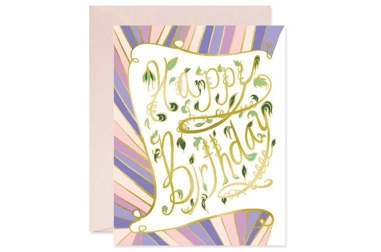 Nouveau Vine Birthday Card